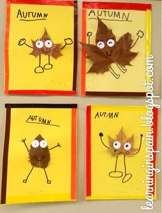 Diy fall crafts 566116615661270978 - These are so cute- could add a writing piece too – describe your leaf person! Kids Crafts, Leaf Crafts, Fall Crafts For Kids, Toddler Crafts, Art For Kids, Fall Activities For Kids, Party Crafts, Kindergarten Art, Preschool Crafts