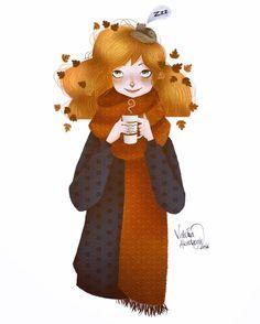 #illustration #digitalart #digitalpainting #autumn #characterdesign