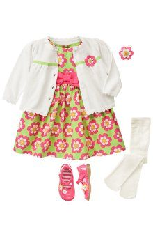 Gymboree bright flowers collection .. Dress / sweater / spring outfit for girls