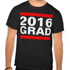 2016 Grad Black Red White Cool Block Graduation Tee T Shirt, Hoodie Sweatshirt