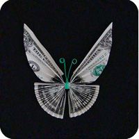 How To Fold Origami Money Butterfly Butterfly Tree, Origami Butterfly, Origami Art, Origami Gifts, Origami Jewelry, Monarch Butterfly, Butterflies, Oragami Money, Money Lei