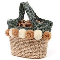 COOCO crochet pompom bag