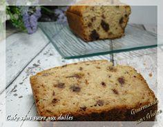 Gourmande sans gluten: Cake aux dattes, sans sucre, sans gluten