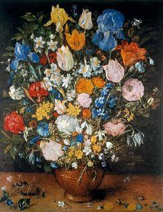 Jan Brueghel der Ältere - Blumenstrauß in Tonvase - Kunstreproduktionen, individuelle Kunstkarten