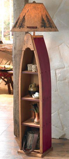 Love this for the living room Canoe Shelf Floor Lamp