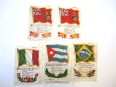 Flags Mexico Cuba Brazil Canada Vintage by injoytreasures on Etsy, $24.00