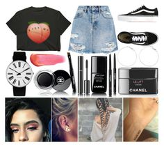 """""""Shopping Day"""" by susanna-trad ❤ liked on Polyvore featuring Chanel, Ksubi, Vans, Rosendahl and e.l.f."""