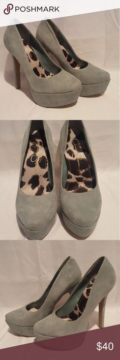 "NEW Jessica Simpson aqua platform heels The color is perfection. Never worn, 5"" platform heels. Jessica Simpson Shoes Heels"