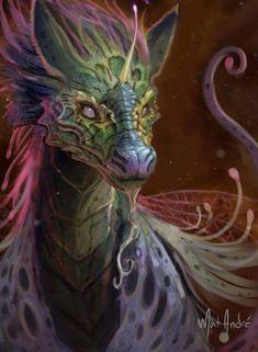 ArtStation - Fae Unicorn Dragon, Mat André - # André - New Ideas Mythical Creatures Art, Mythological Creatures, Magical Creatures, Mystical Creatures Drawings, Dragon Artwork, Dragon Pics, Cool Dragon Pictures, Beautiful Dragon, Creature Drawings