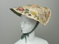 Hat with appliqué and embroidery, ca. 1750?; MFA 43.1834
