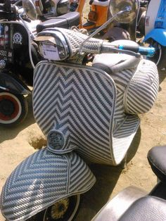 Interesting covering on this Vespa