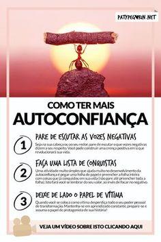 Autoconfiança - Como ser mais autoconfiante - Frase Imagem Pinterest