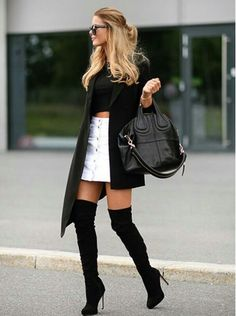 Womens fashion edgy chic boots 51 Ideas for 2019 Edgy Style, Edgy Look, Mode Style, Edgy Chic, Fall Winter Outfits, Autumn Winter Fashion, Dress Winter, Spring Outfits, Fall Fashion