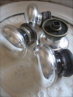 Mercury Glass Door Knobs