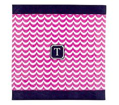 Wave Family Beach Towel - pink/navy