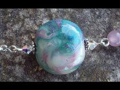 Video tutorial for glass-like polymer clay beads.