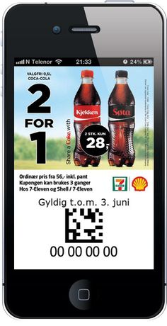 7-Eleven: 2 Coca Cola og betal for 1