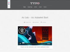 Typo is a free wordpress theme for sharing your videos, photos, audio, links. theme inspired Tumblr blog, free wordpress themes #Wordpress #FreeWordpressTheme #WordpressThemes