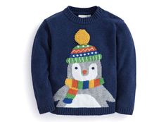 Bnwt Jojo Maman Bebe Penguin Jumper With Cashmere. Baby Ugly Christmas Sweater, Ugly Sweater Party, Christmas Jumpers, Holiday Sweater, Knitting Paterns, Baby Knitting, Knitted Baby, Bird Quilt, Boys Sweaters