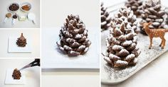 Trendy Ideas for christmas tree wedding cake pine cones Christmas Cake Decorations, Christmas Tree Cookies, Fondant, Reindeer Cakes, Muffins, Gum Paste, Holiday Treats, Themed Cakes, Amazing Cakes