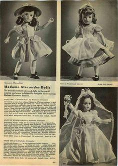 1947 PAPER AD Madame Alexander Doll Margaret O'Brien Bride Alice in Wonderland in | eBay