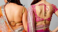 Back neck saree blouse styles for Indian saree blouse designs 2017 Blouse Back Neck Designs, Bridal Blouse Designs, Saree Blouse Designs, Blouse Patterns, Sari Blouse, Blouse Styles, Indian Blouse, Indian Wear, Indian Attire