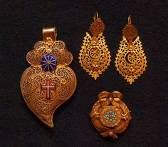 Earings from Viana do Castelo  Portuguese filigree.