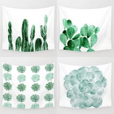 cactus succulent wall tapestries tapestry succulents cacti plants plant From: lake1221.etsy.com