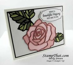 stampin up | Stampin' Up! Rose Wonder Card - Tech Club Baldwin, MD