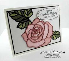 stampin up   Stampin' Up! Rose Wonder Card - Tech Club Baldwin, MD
