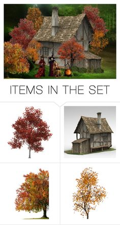 """""""The Witches Cottage"""" by sjlew ❤ liked on Polyvore featuring art"""