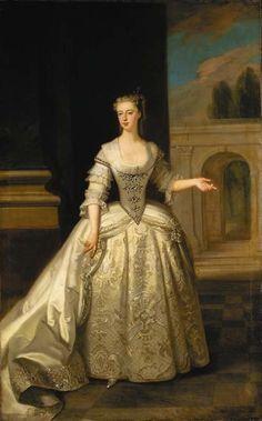 Retrato de Lady Caroline Darcy, condessa de Ancram por Enoque Seeman, antes de 1745