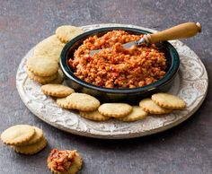 Recipe Capsicum and sun-dried tomato dip by Thermomix in Australia - Recipe of category Sauces, dips & spreads Dip Recipes, Snack Recipes, Cooking Recipes, Savoury Recipes, Recipies, Chutneys, Capsicum Recipes, Radish Recipes, Sundried Tomato Dip