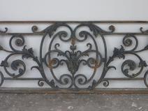 antique balcony  balustrade cast iron napoleon iii