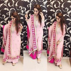Best 11 Excited to share this item from my shop: VeroniQ Trends-Designer Pink Palazzo & Kurta Suit in Georgette with Lace Work,Salwar Suit,Sharara suit,Punjabi Suit-VF Punjabi Suits Party Wear, Punjabi Salwar Suits, Salwar Kameez, Churidar, Sharara Suit, Patiala Dress, Indian Suits, Indian Attire, Indian Wear