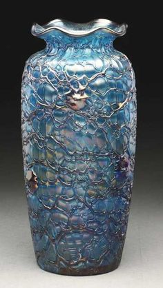 C1900 Comfortable And Easy To Wear Reasonable Rare Antique Bohemian Hand Blown Vase Art Glass