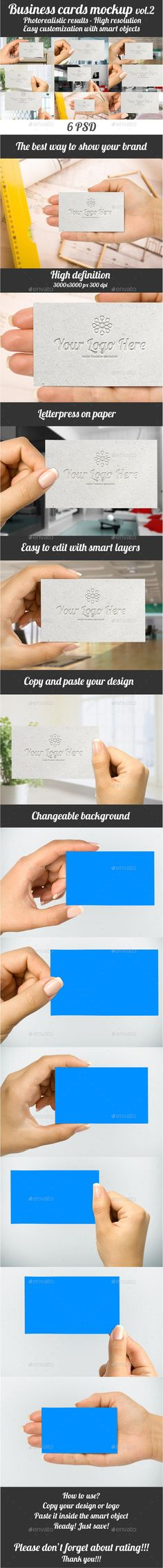Folded Business Card Mockup V1 | Folded business cards, Mockup and ...