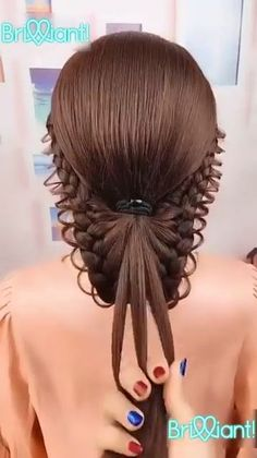 peinados paso a paso HAIR Curly Hair Styles, Natural Hair Styles, Hair Upstyles, Easy Hairstyles For Long Hair, Amazing Hairstyles, Little Girl Wedding Hairstyles, Quick Braided Hairstyles, Teen Hairstyles, School Hairstyles
