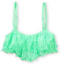Malibu Mint Crochet Flounce Bikini