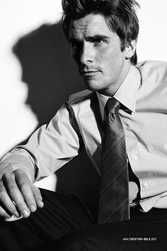 Christian Bale - Because i first loved him in Little Women as Laurie, obviously. Because he's had such a tremendous career and because he's batman.