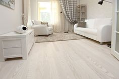 Engineered White Wood Flooring - The endless selections of wood flooring is overwhelming and perplexing when contemplating White Wood Floors, Hardwood Floors, Home Upgrades, Bedroom Flooring, Wooden Flooring, White Oak, Floor Chair, New Homes, Living Room