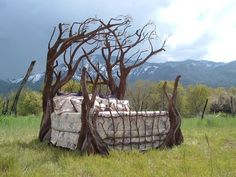 Pretty cool bed! Tree Bed, St. Georges, Utah. via bluepueblo.tumblr.com