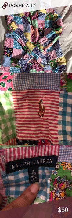 Women's Polo Ralph Lauren Multi Design Multi Design  Long Sleeve  Collar  Button Down Polo by Ralph Lauren Tops Button Down Shirts