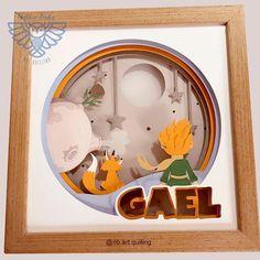 3d Paper Art, Paper Artwork, Diy Paper, Art Quilling, Paper Quilling Designs, 3d Box Frames, Paper Frames, Lightbox Art, Personalised Christmas Decorations