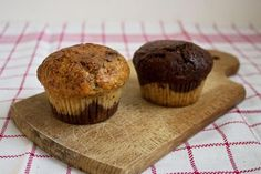 Muffins marbres vanille chocolat