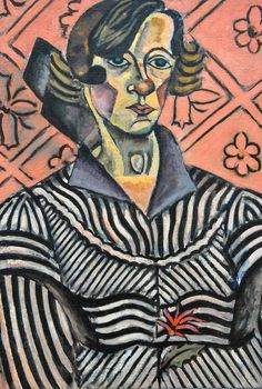 Joan MIro - Portrait of Juanita Obrador, 1918 at the Art Institute of Chicago IL