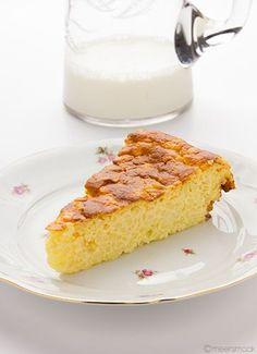 Deze rijsttaart is gebaseerd op een recept van Bosto. Ik laat deze taart een nachtje in de koelkast staan voor ik ze serveer. Voor de zoetebekken kan je de taart bestrooien met poedersuiker.