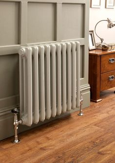 Kitchen Living Rooms The Radiator Company - Cast Iron Radiators - Priory Living Room Kitchen, Living Room Decor, Living Rooms, Victorian Radiators, Traditional Radiators, Column Radiators, Hallway Decorating, Cottage Decorating, Houses