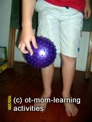 Walk the Ball up your Body using your Fingers, Strengthens Hand Muscles - Re-pinned by @PediaStaff – Please Visit http://ht.ly/63sNt for all our pediatric therapy pins