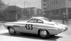 """Ghia Supersonic Alfa Romeo 1900 Conrero"""". Prepared for 1953 Mille Miglia, this car was just a partly an Alfa Romeo, only the engine came from the 1900. Designed by Giovanni Savonuzzi."""